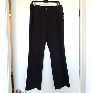 Tahari Black Wide Leg Trousers